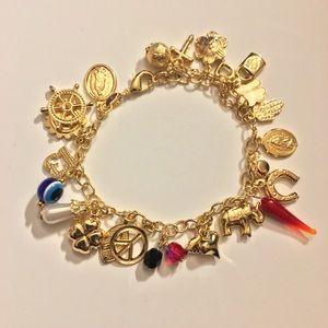 Jewelry - Lucky Charm Bracelet 14k Gold Plated 🍀